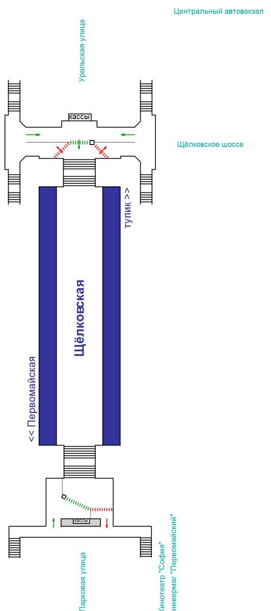 1. Метро.  Железнодорожные вокзалы.  Арбатско-Покровская линия - станция Киевская.  Ехать до станции Щелковская.