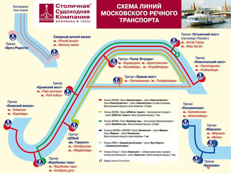 Речной трамвайчик схема маршрута
