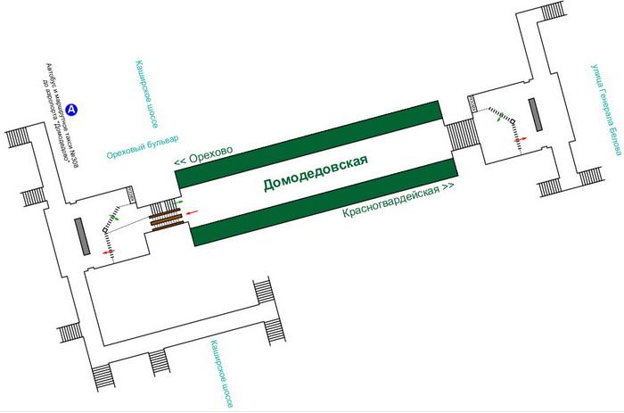 Схема станции метро