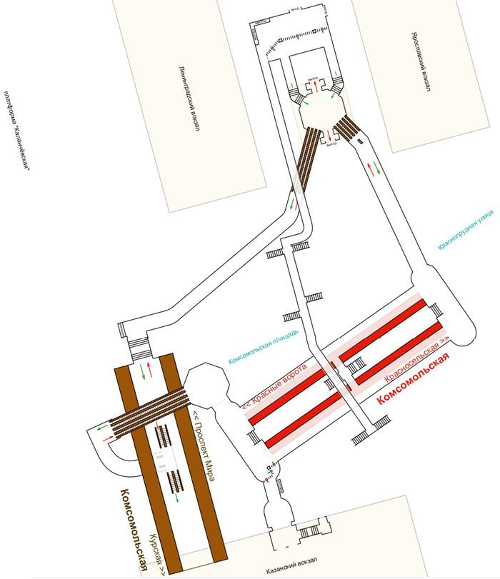 Схема метро курском вокзале фото 19