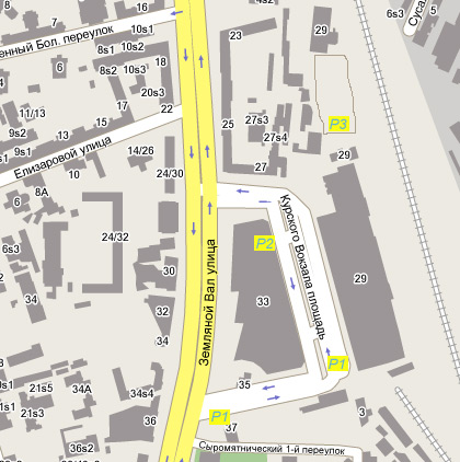 Курский вокзал схема парковок